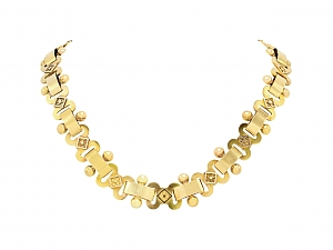 Antique Link Necklace in 14K Gold