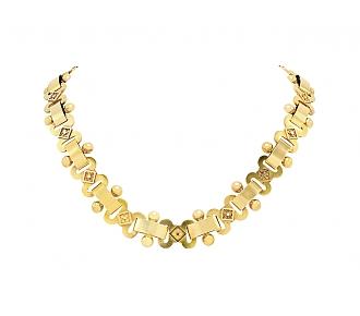 Antique Link Necklace in 14K Gold