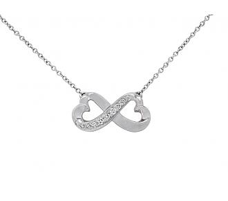 Tiffany & Co. Paloma Picasso 'Double Loving Heart' Diamond Pendant in 18K