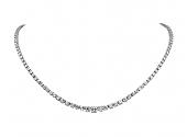 Diamond Rivière Necklace in 14K White Gold