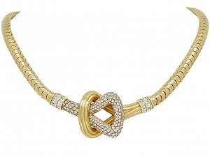 Cartier Diamond Knot Necklace in 18K Gold