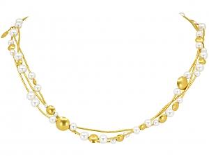 Gurhan 'Lentil' Pearl Necklace in 24K Gold