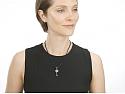 Rhonda Faber Green Pave Diamond Key Pendant in 18K Gold