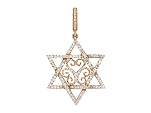 Rhonda Faber Green 'Star of David' Diamond Pendant in 18K Rose Gold