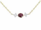 Ruby and Diamond Necklace in 14K and 18K Gold