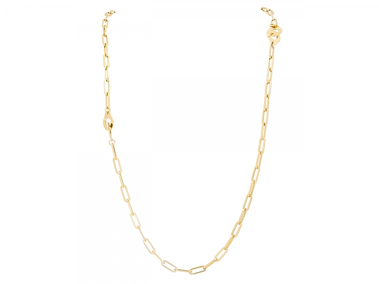 Video of Pair of Dinh Van 'Menottes' Necklaces in 18K Gold