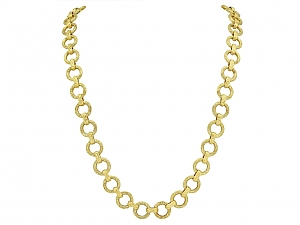 Hammerman Brothers Link Chain Necklace in 14K Gold