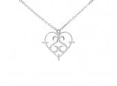 Rhonda Faber Green Diamond Heart Pendant in 18K White Gold