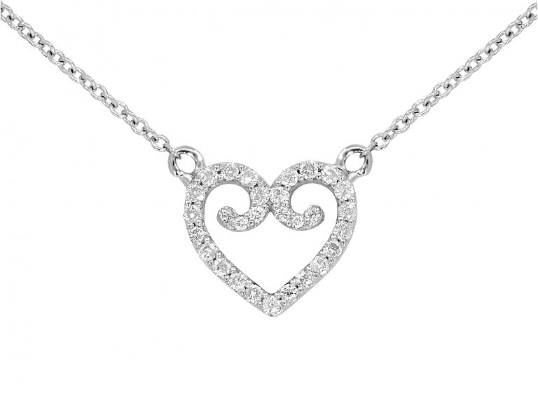 Video of Rhonda Faber Green Diamond Heart Pendant in 18K White Gold