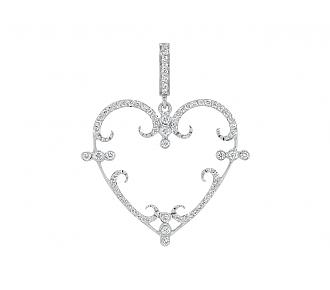 Rhonda Faber Green 'Filigreen Heart' Pendant Necklace in 18K, Small