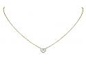 Rhonda Faber Green Diamond Pavé Heart Pendant in 18K White and Yellow Gold