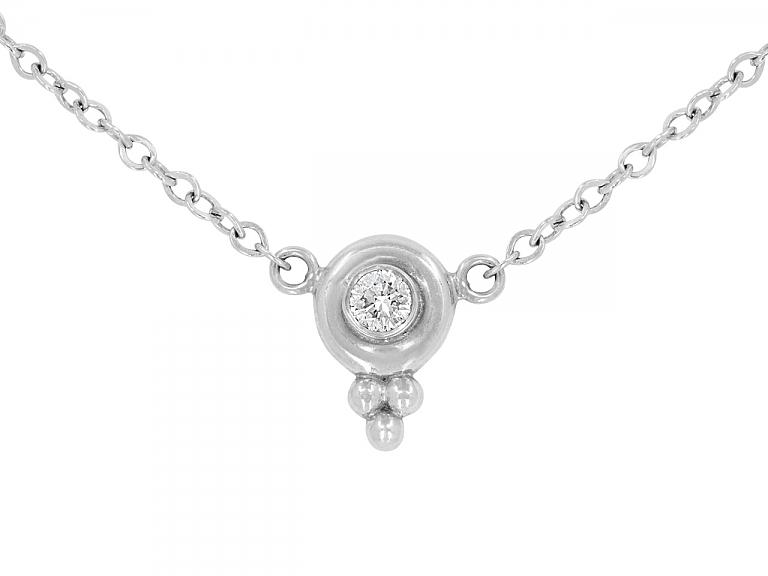 Video of Temple St. Clair Diamond Pendant Necklace in Platinum