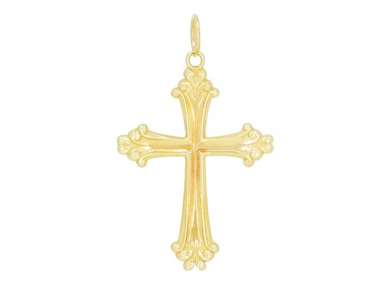 Video of Cross Pendant in 18K Gold