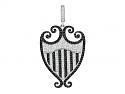 Rhonda Faber Green 'Filigreen' Crest Black and White Diamond Pendant in 18K