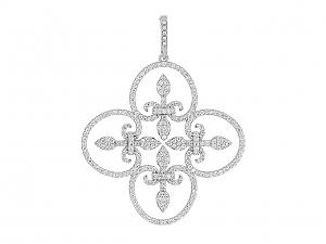 Rhonda Faber Green 'Lauren' Pendant in 18K White Gold
