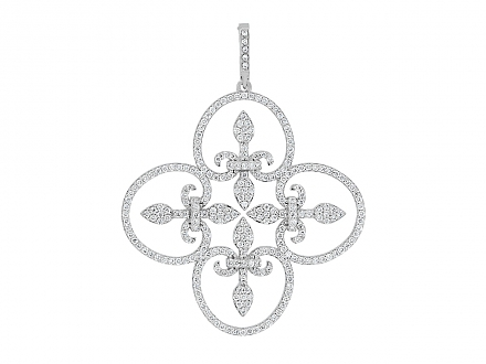 Rhonda Faber Green 'Lauren' Pendant in 18K White Gold