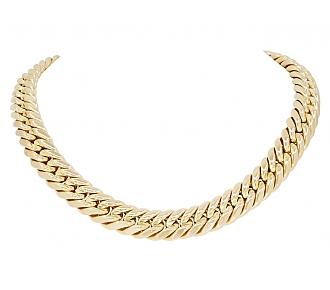 Large Link Necklace in 18K Gold