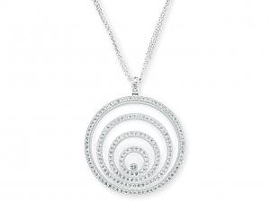 Chopard 'Happy Spirit' Diamond Pendant in 18K White Gold