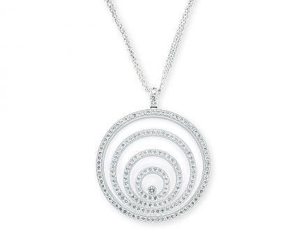 Chopard 'Happy Spirit' Diamond Pendant in 18K White Gold