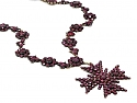 Antique Georgian Foiled Garnet Necklace with Detachable Cross in 14K Gold