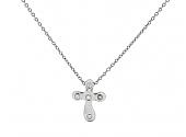 Tiffany & Co. Elsa Peretti Diamond Cross Pendant in Platinum