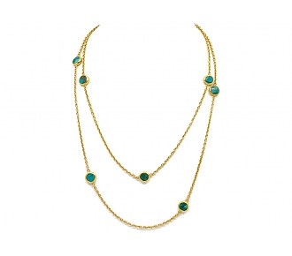 ARA Turquoise Necklace in 23K Gold