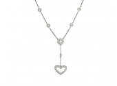 Diamond Heart Necklace in Platinum