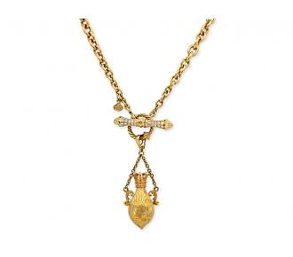 Cynthia Bach Gold Fob Pendant in 18K Yellow Gold