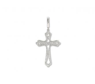 Rhonda Faber Green 'Filigreen' Cross Pendant in 18K White Gold