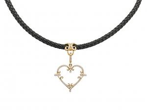Rhonda Faber Green Diamond Heart Pendant in 18K Gold