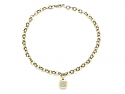 David Yurman Albion Pendant and Oval Link Necklace in 18K Gold and Silver