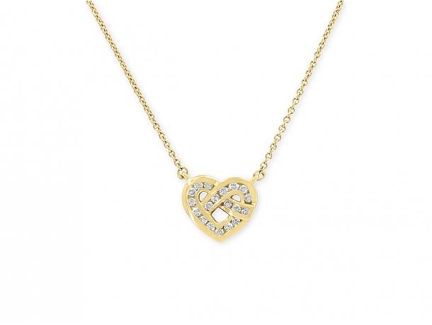 Tiffany & Co. Diamond Heart Pendant in 18K Gold