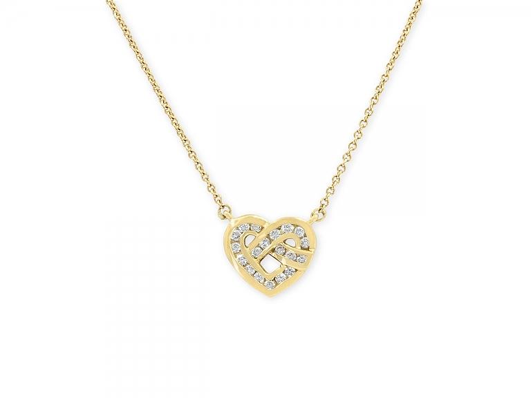 Video of Tiffany & Co. Diamond Heart Pendant in 18K Gold