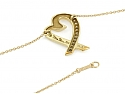 Tiffany & Co. Palomo Picasso 'Loving Heart' Diamond Necklace in 18K Gold
