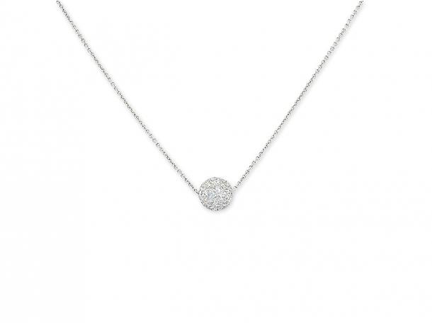 Tiffany & Co. Diamond 'Ball' Pendant in Platinum