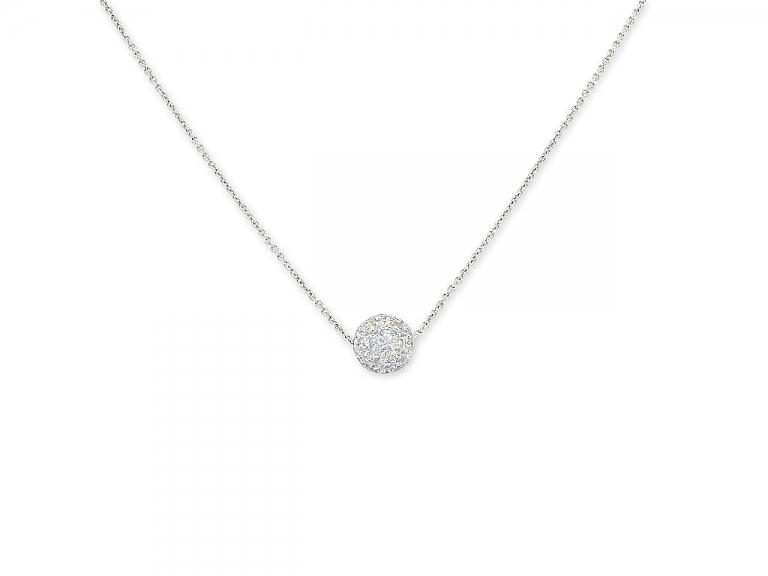 Video of Tiffany & Co. Diamond 'Ball' Pendant in Platinum