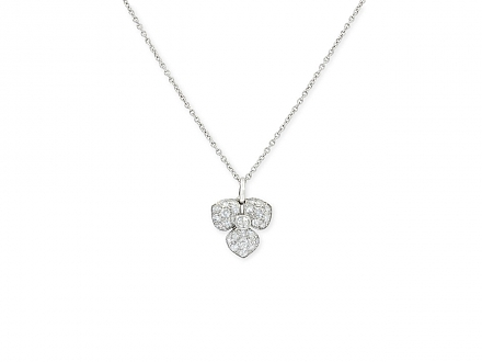 Tiffany 'Petal' Diamond Flower Necklace in Platinum, Medium Size