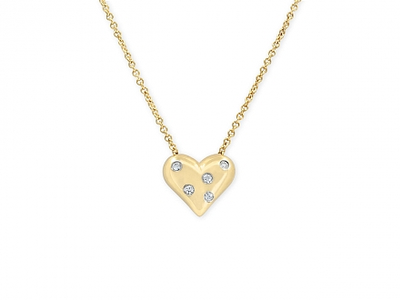 Tiffany & Co. 'Etoile' Diamond Heart Pendant in 18K Gold
