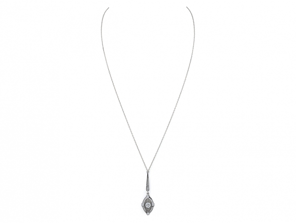 Antique Belle Époque Diamond Pendant in Platinum