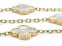 Van Cleef & Arpels 'Vintage Alhambra' Mother-of-Pearl Necklace, 20 Motif, in 18K Gold