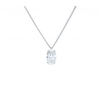 Boucheron Oval Diamond Pendant, 2.79 carat F/VS-1, in Platinum