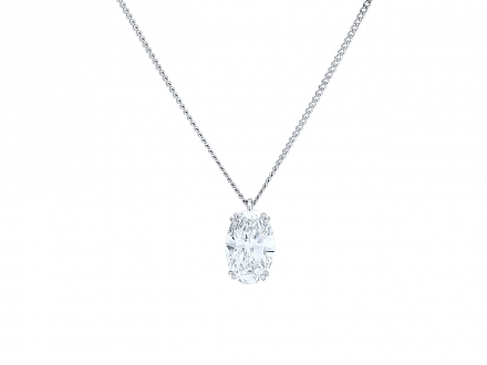 Boucheron Oval Diamond Pendant, 2.79 carat F/VS-1, in Platinum