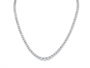 Diamond Rivière Necklace in Platinum