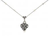 Antique Victorian Diamond Pendant in 14K and Silver