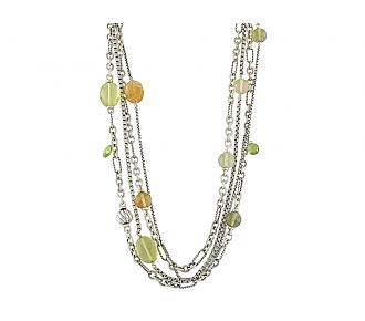 David Yurman Gemstone Necklace in Silver
