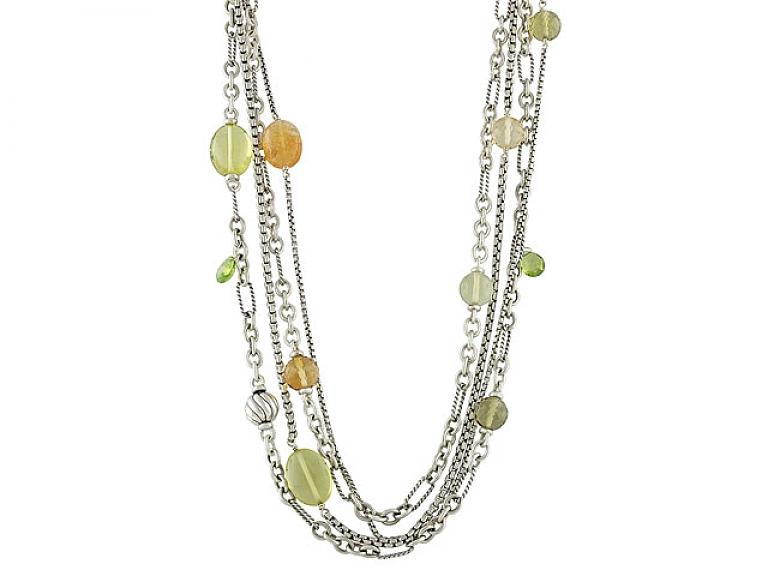 Video of David Yurman Gemstone Necklace in Silver