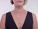 Video of Art Deco Diamond Briolette Pendant in Platinum