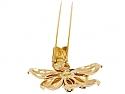Van Cleef & Arpels Retro Citrine Flower Brooch in 18K