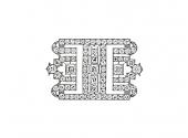 Art Deco Diamond Brooch in Platinum