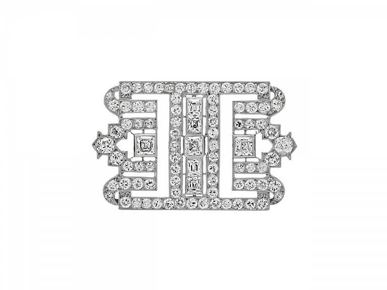 Video of Art Deco Diamond Brooch in Platinum